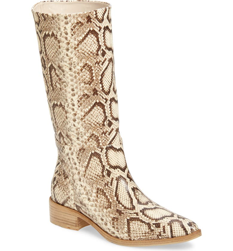 FREDA SALVADOR Julia Snake Embossed Boot, Main, color, 900