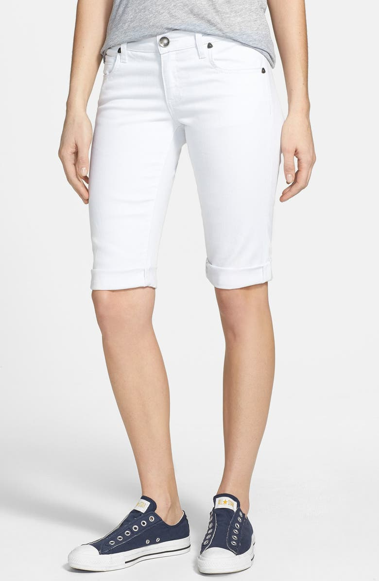 KUT FROM THE KLOTH Roll-Up Bermuda Shorts, Main, color, 100