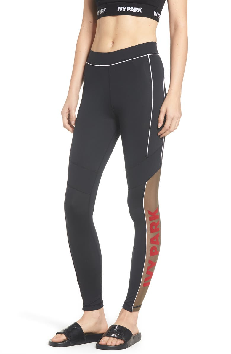 e3737f41c807d2 IVY PARK® Sheer Flocked Logo Leggings | Nordstrom