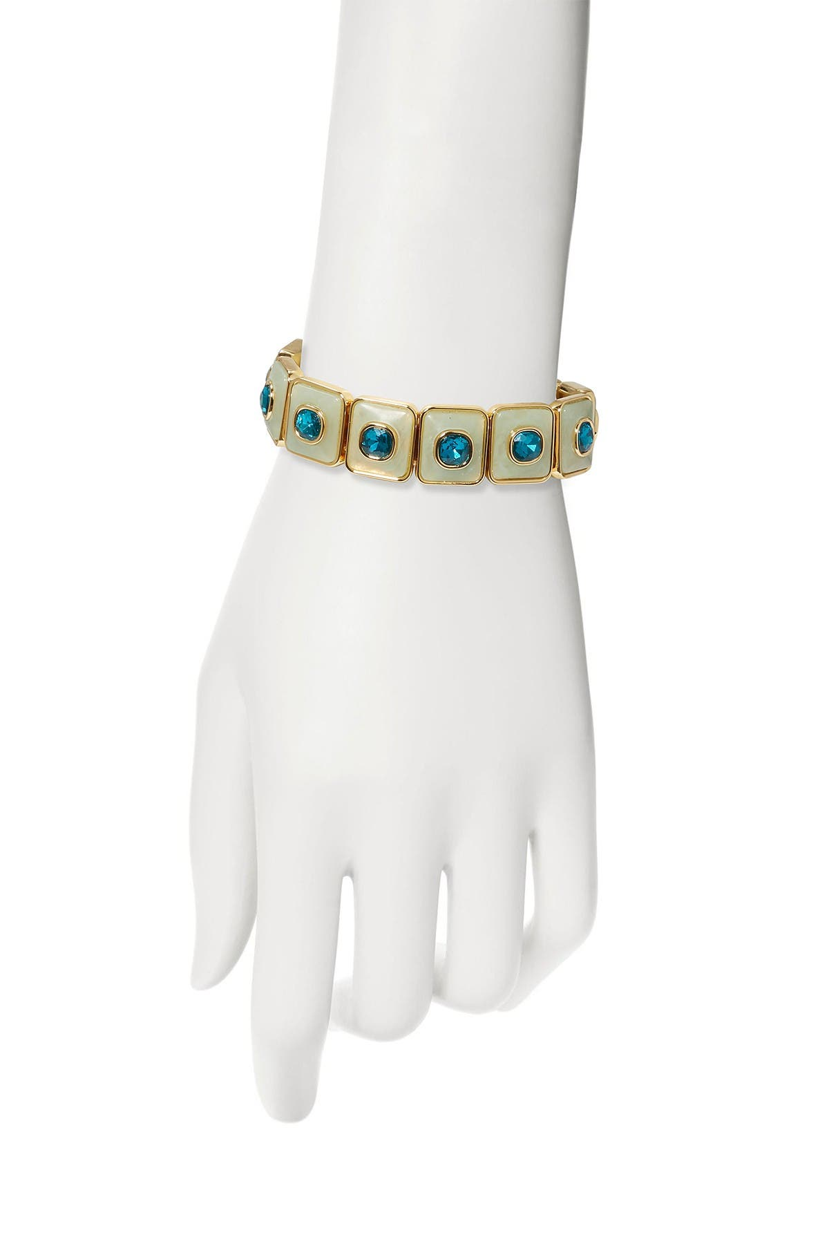 Image of Vince Camuto Crystal Resin Stretch Bracelet