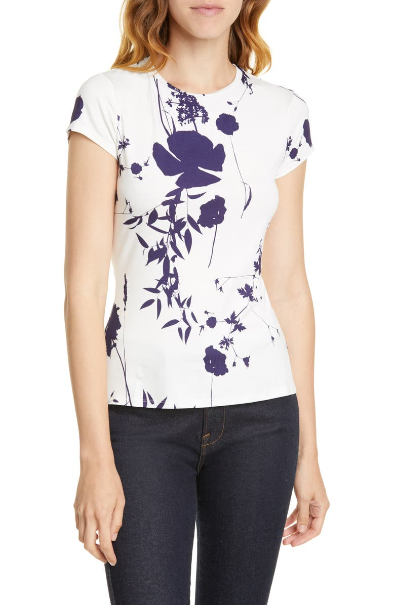 TED BAKER LONDON Miliyy Bluebell Fitted Tee, Main, color, WHITE