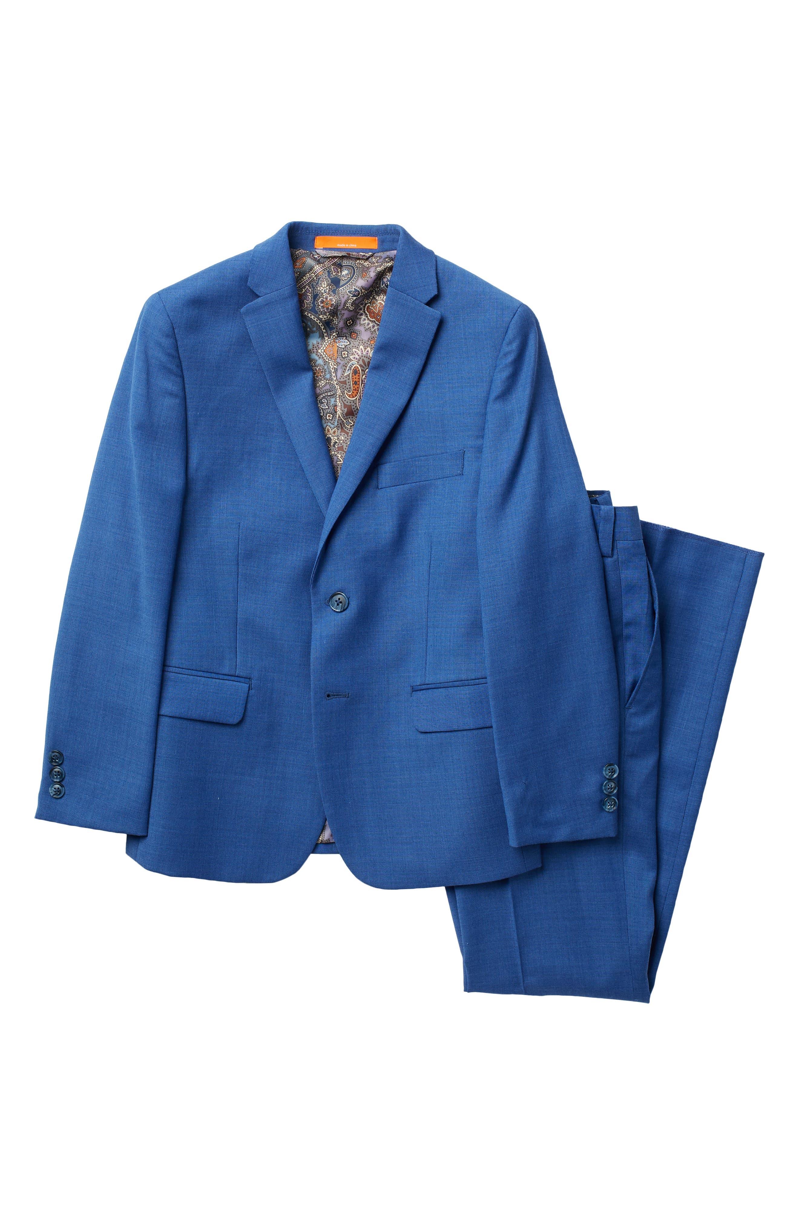 Image of Tallia Sharkskin Brushed Natural Suit