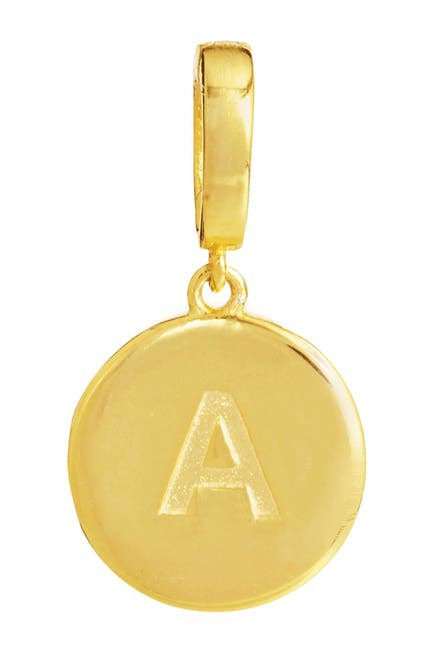 Image of Savvy Cie 18K Yellow Gold Vermeil Initial Charm - Multiple Letters Available