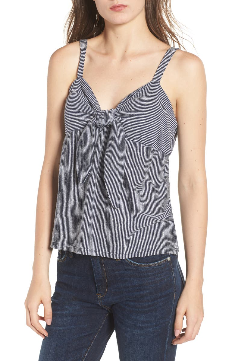 SOCIALITE Knot Front Tank Top, Main, color, 428