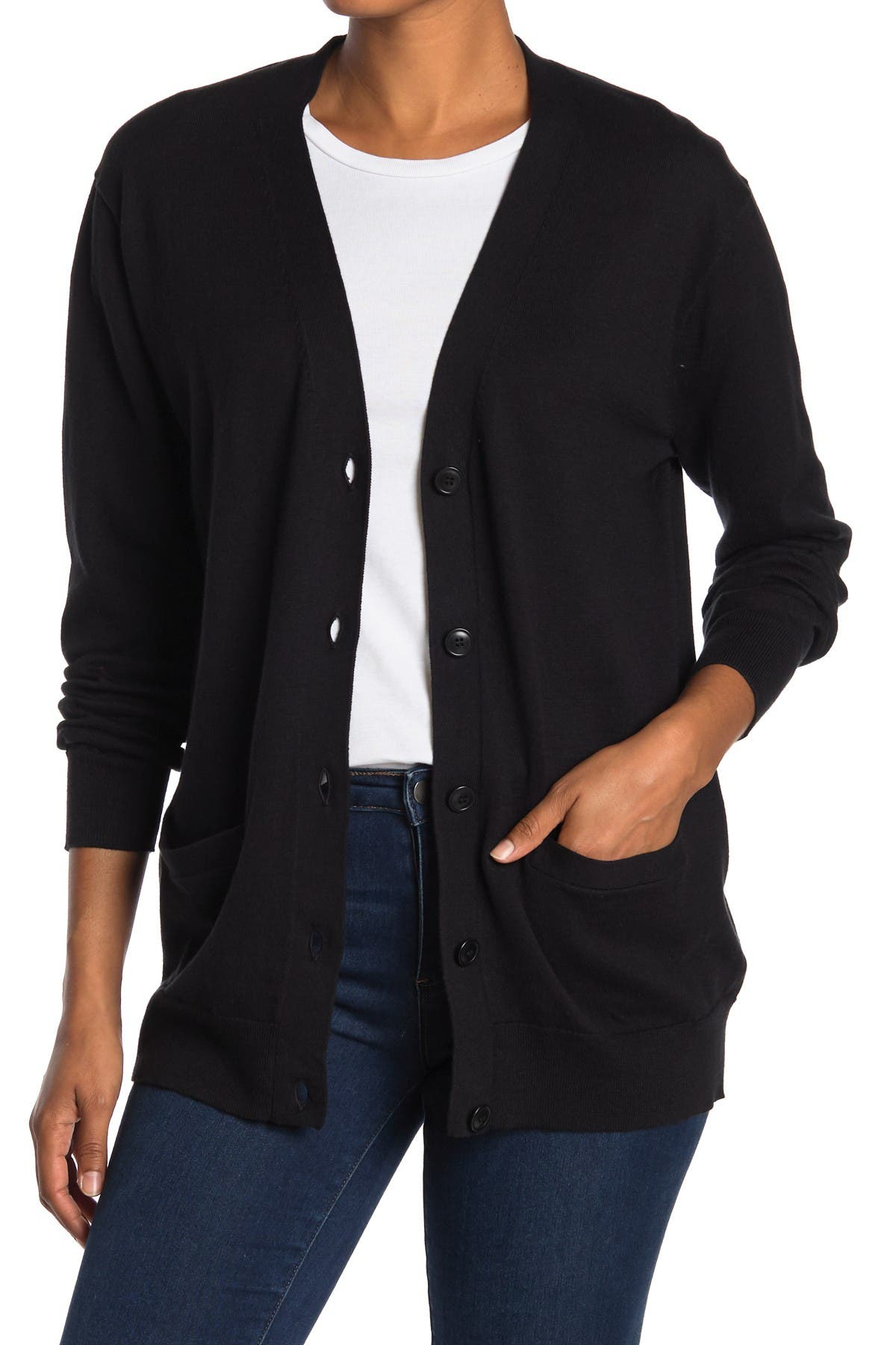 Image of J. Crew Rack Solid Boyfriend Cardigan