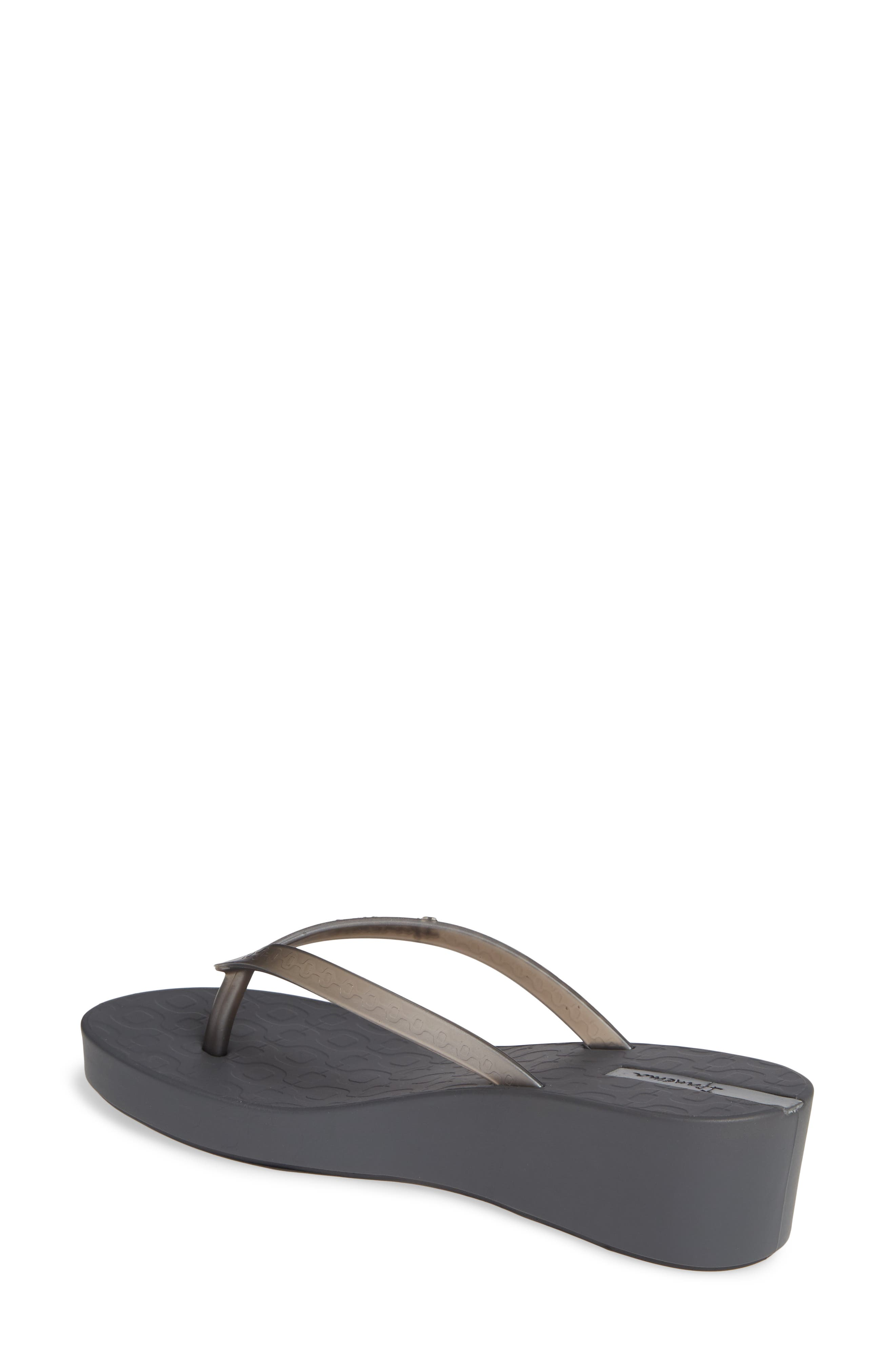 ,                             Daisy Wedge Flip-Flop,                             Alternate thumbnail 2, color,                             GREY/ SILVER