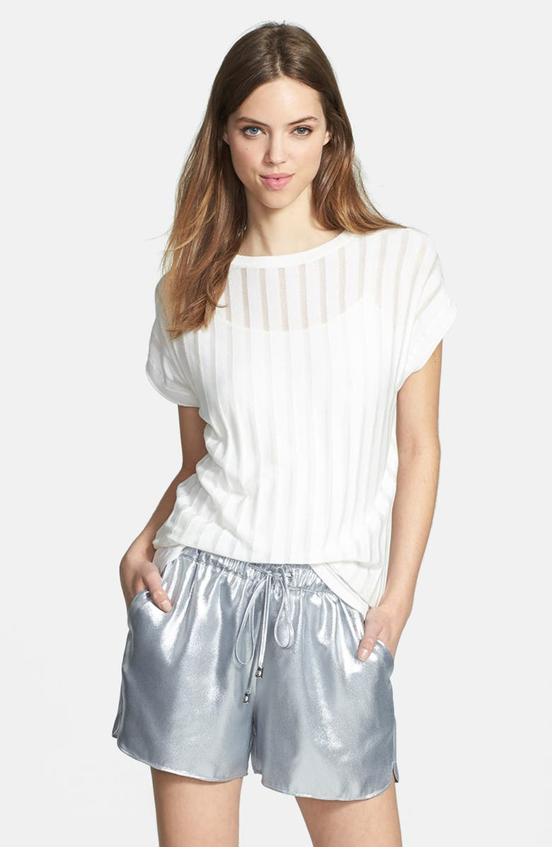 VINCE CAMUTO Sheer Stripe Sweater, Main, color, 900