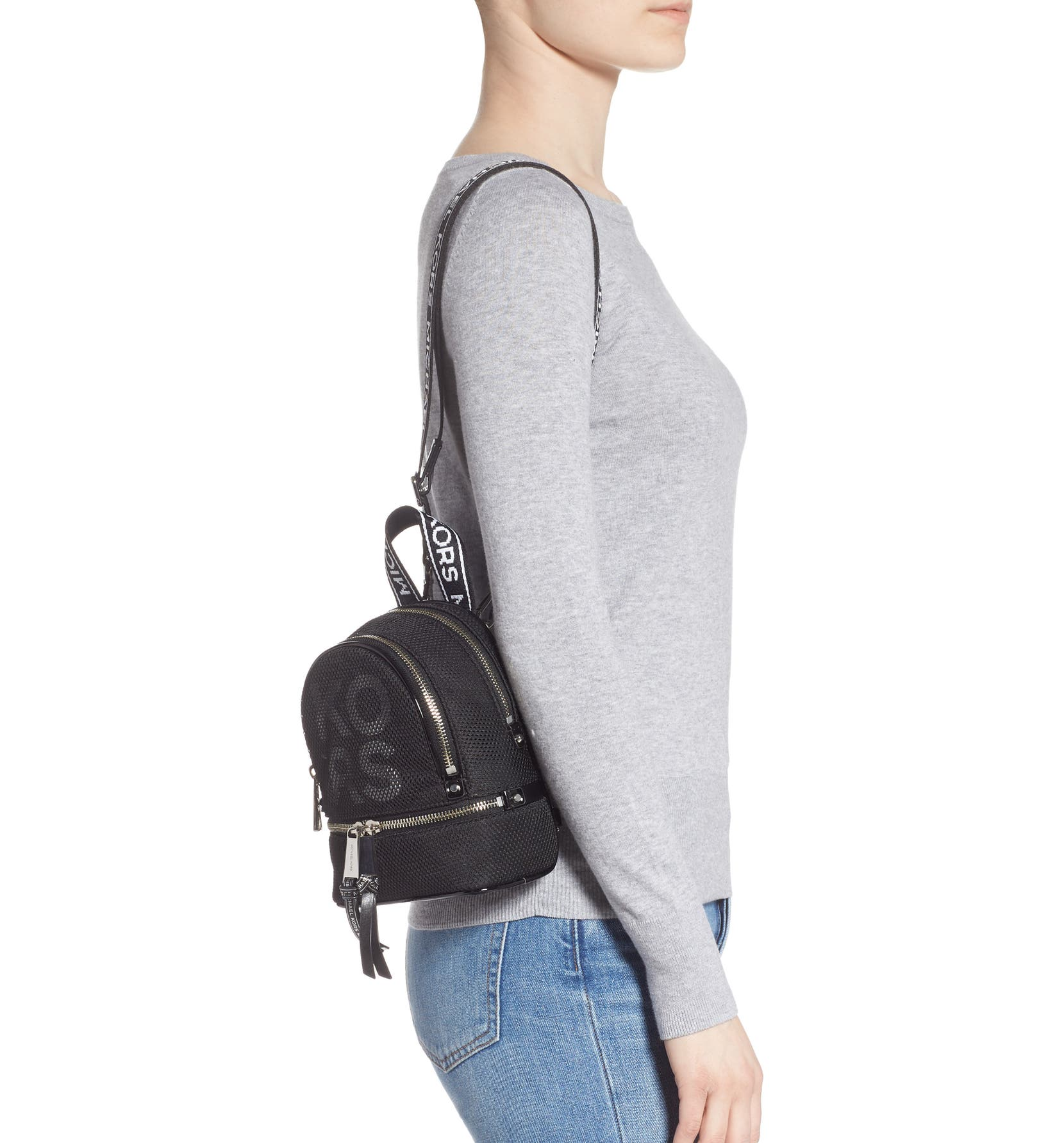 3aced27734c4 MICHAEL Michael Kors Extra Small Rhea Mesh Backpack | Nordstrom