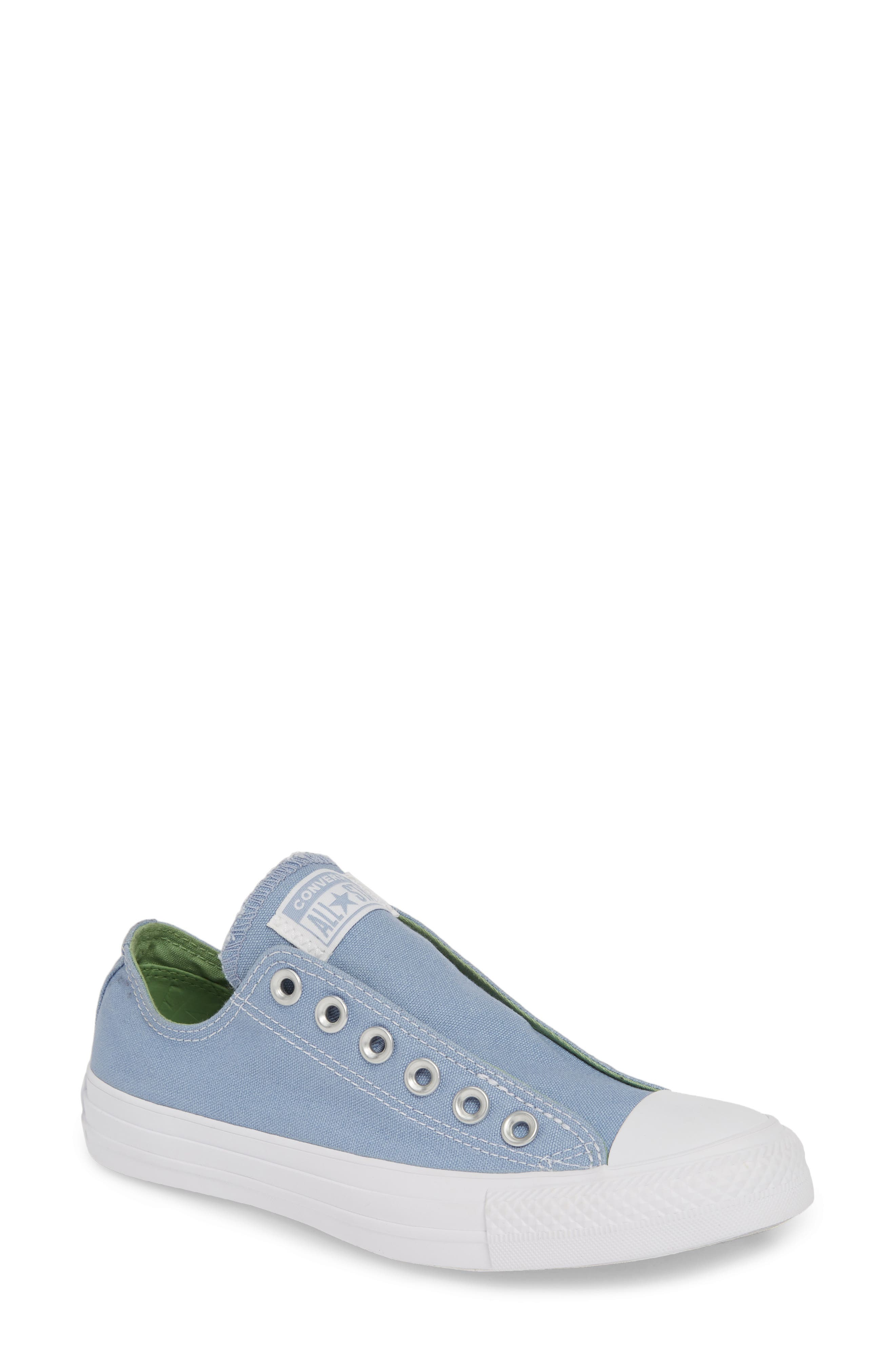 Converse Chuck Taylor All Star Laceless Low Top Sneaker- Blue