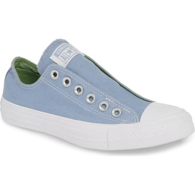Converse Chuck Taylor All Star Laceless Low Top Sneaker, Blue