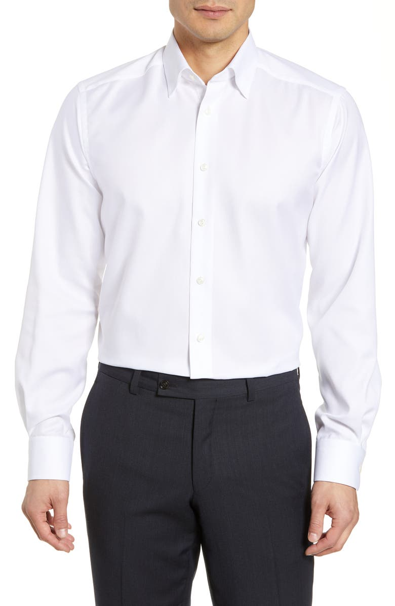 ETON Contemporary Fit Solid Dress Shirt, Main, color, 100