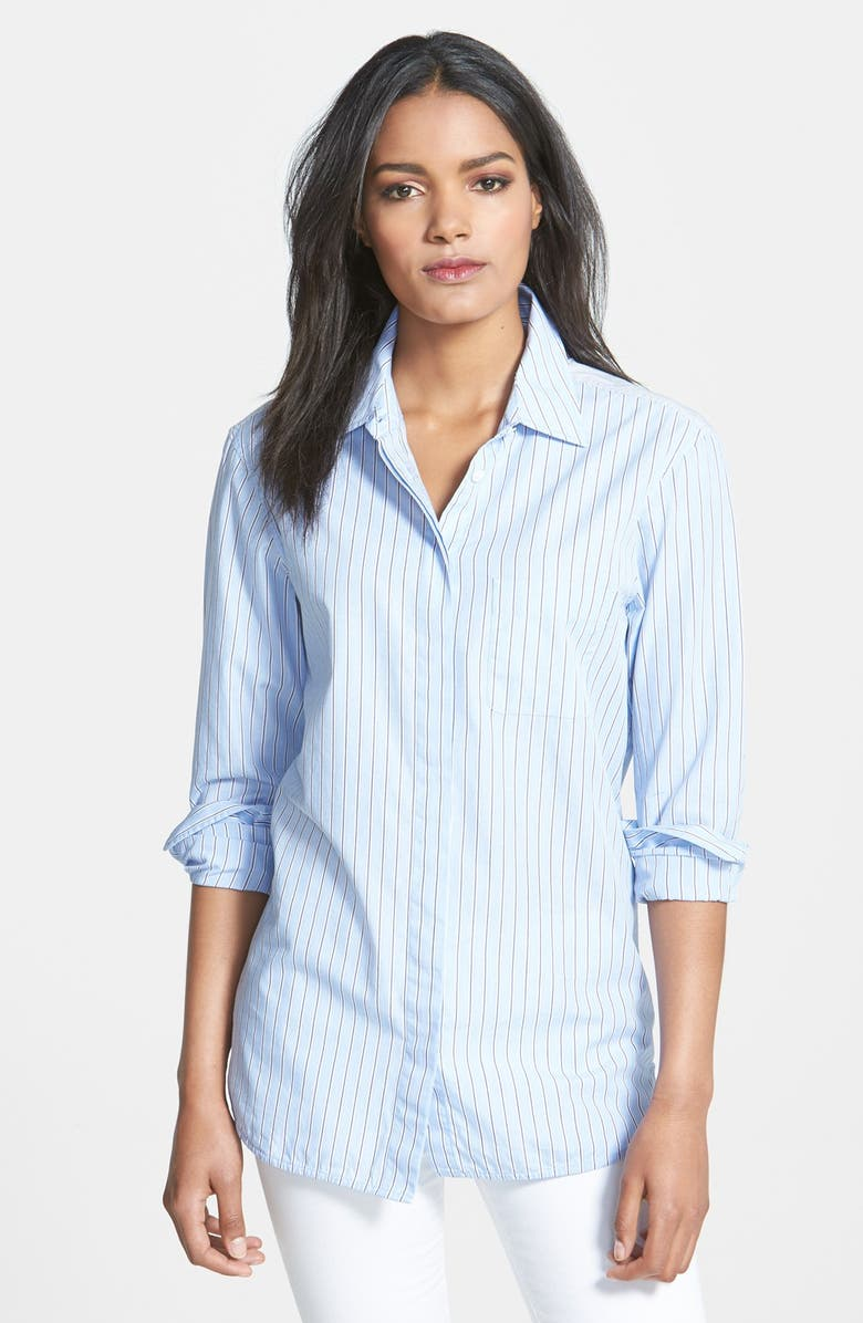 EQUIPMENT 'Morisson' Stripe Cotton Shirt, Main, color, FRENCH BLUE