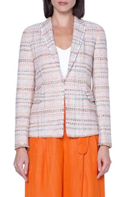 Image of Akris punto Cotton Blend Tweed Blazer