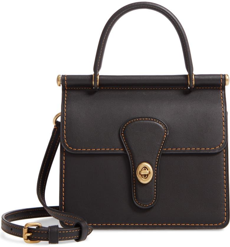 COACH The Coach Originals Willis Top Handle Bag, Main, color, B4/ BLACK