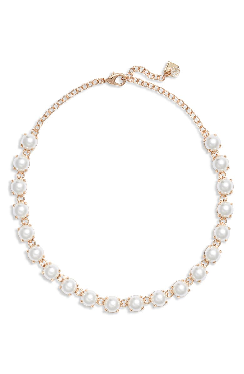 Simulated Pearl Collar Necklace by Rachel Parcell