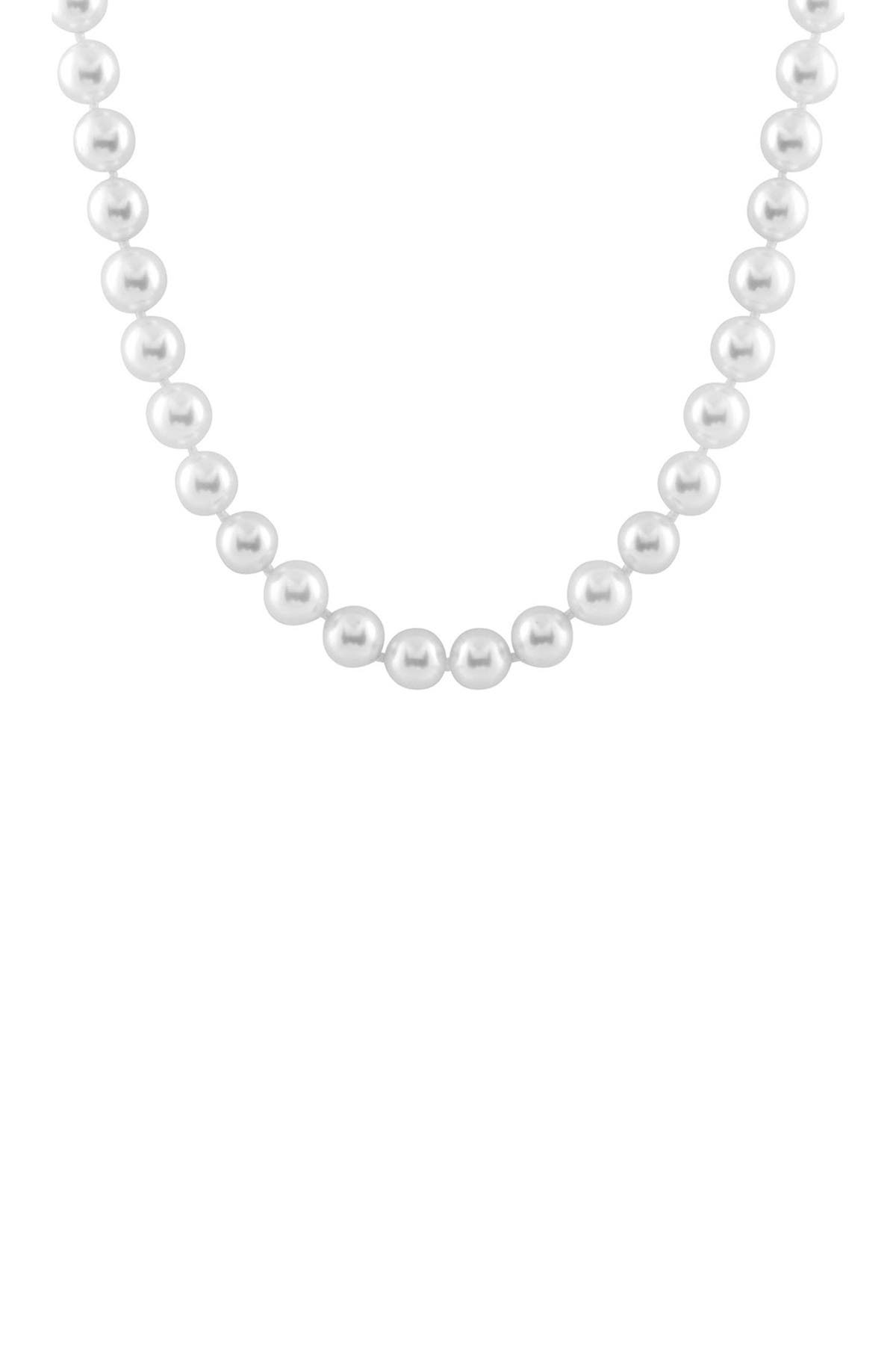 Image of Splendid Pearls 12mm White Shell Pearl Necklace