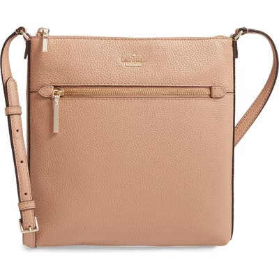 Kate Spade New York Large Shirley Leather Crossbody Bag - Beige