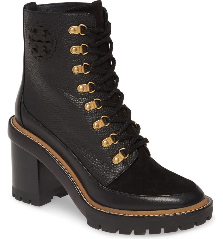 TORY BURCH Miller Lug Sole Bootie, Main, color, PERFECT BLACK
