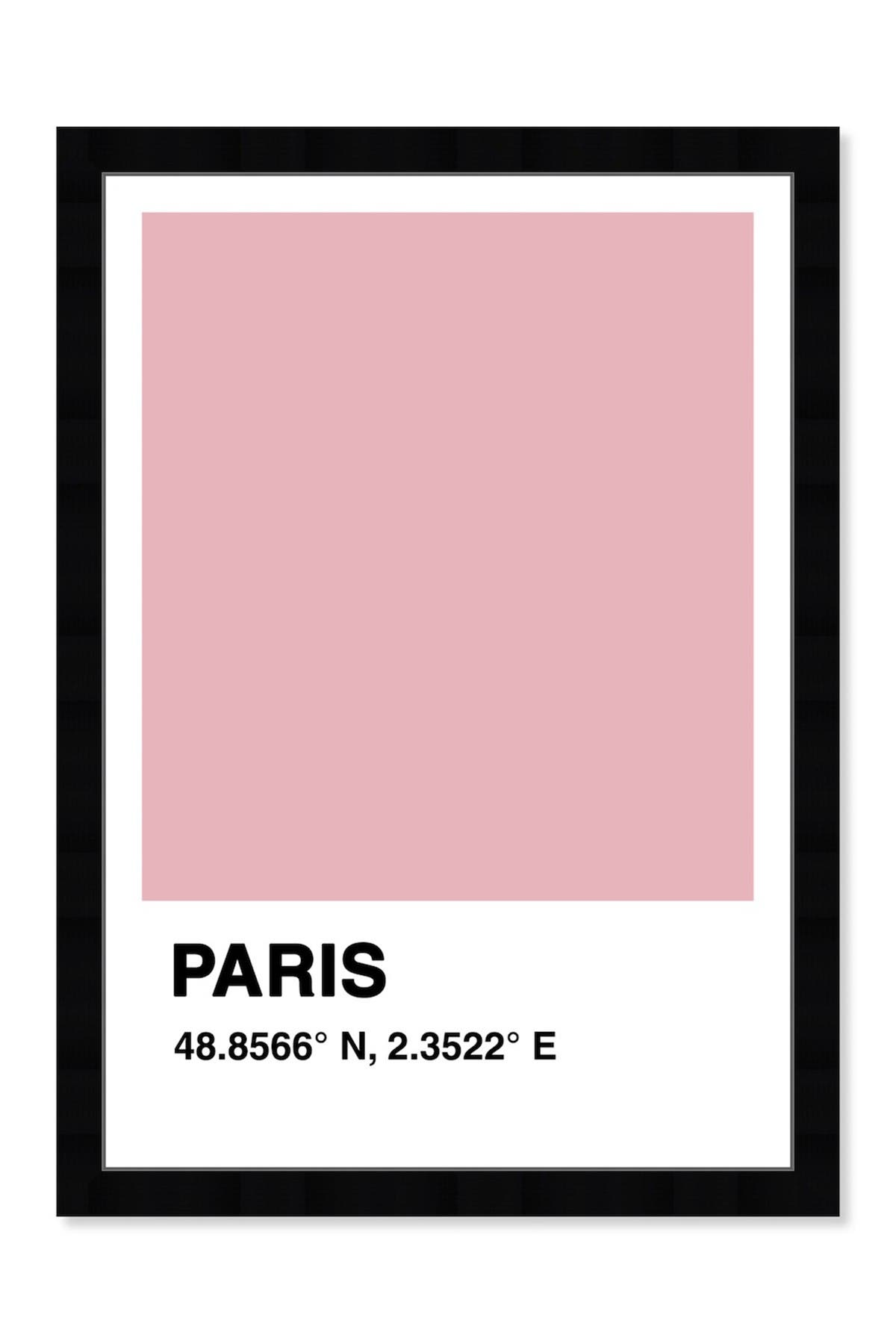 Image of Wynwood Studio Paris Color Swatch Pink Framed Wall Art