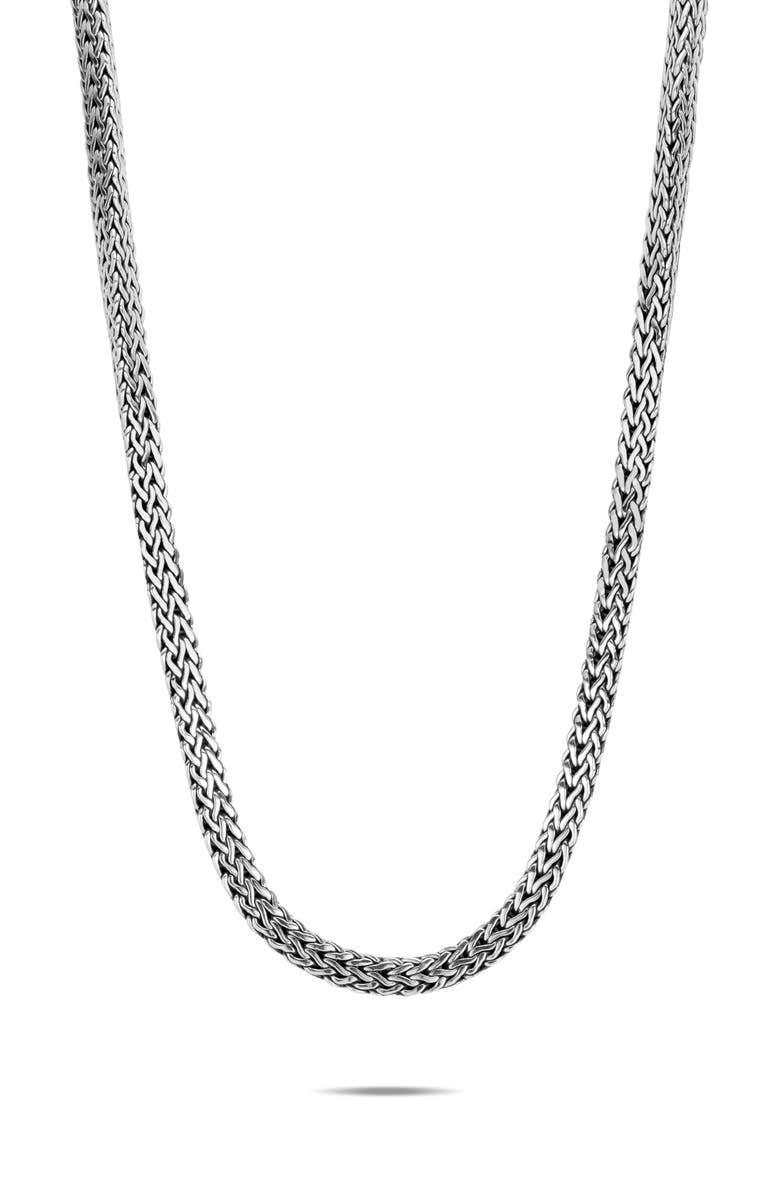 JOHN HARDY Tiga Chain 8mm Necklace, Main, color, SILVER