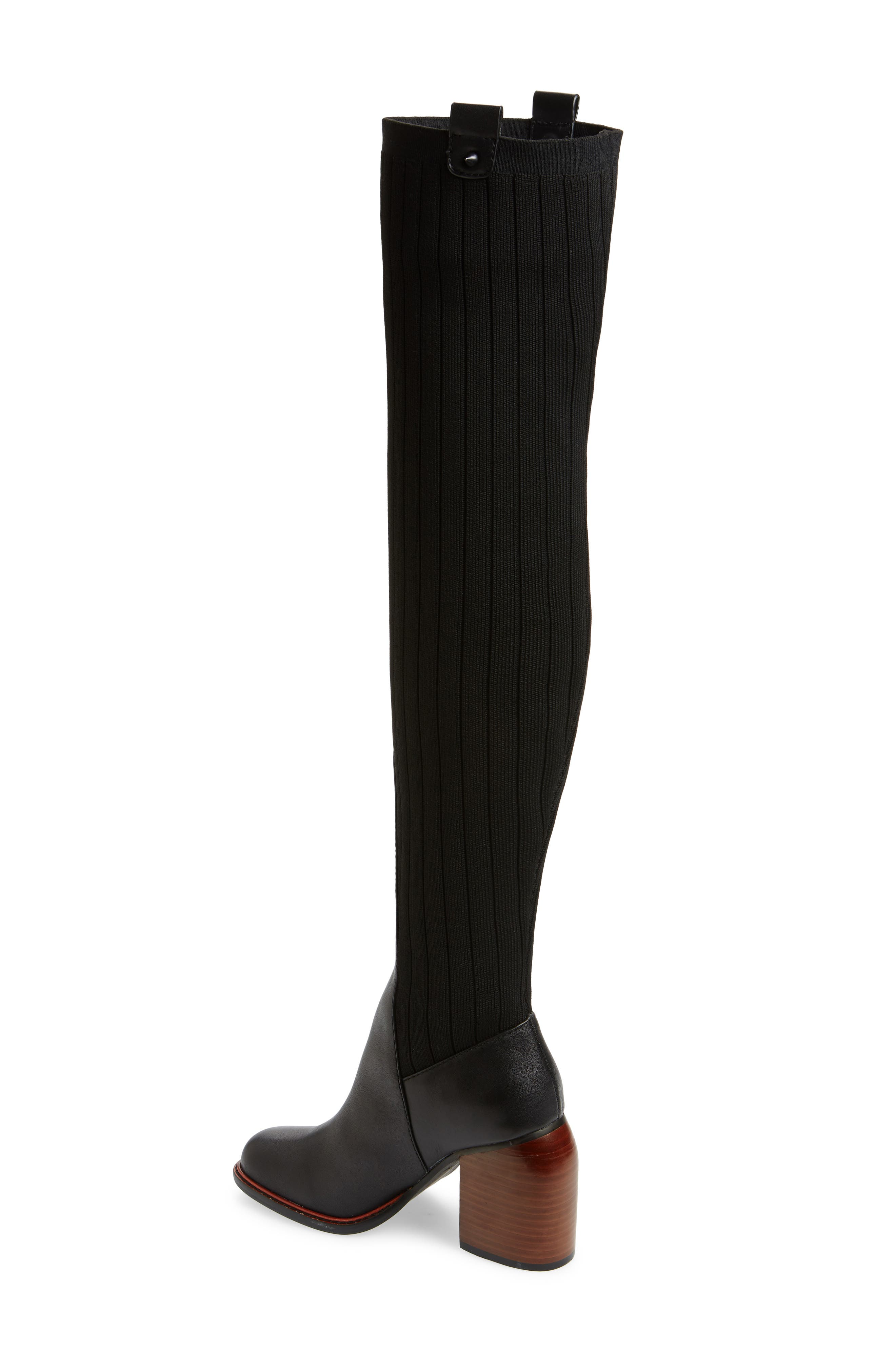 ,                             Over the Knee Knit Boot,                             Alternate thumbnail 2, color,                             001