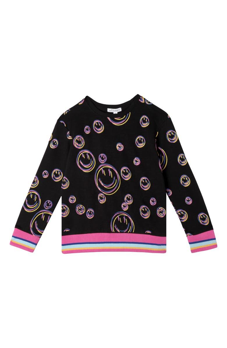 ART & EDEN Felice Smiley Sweatshirt, Main, color, SMILEY