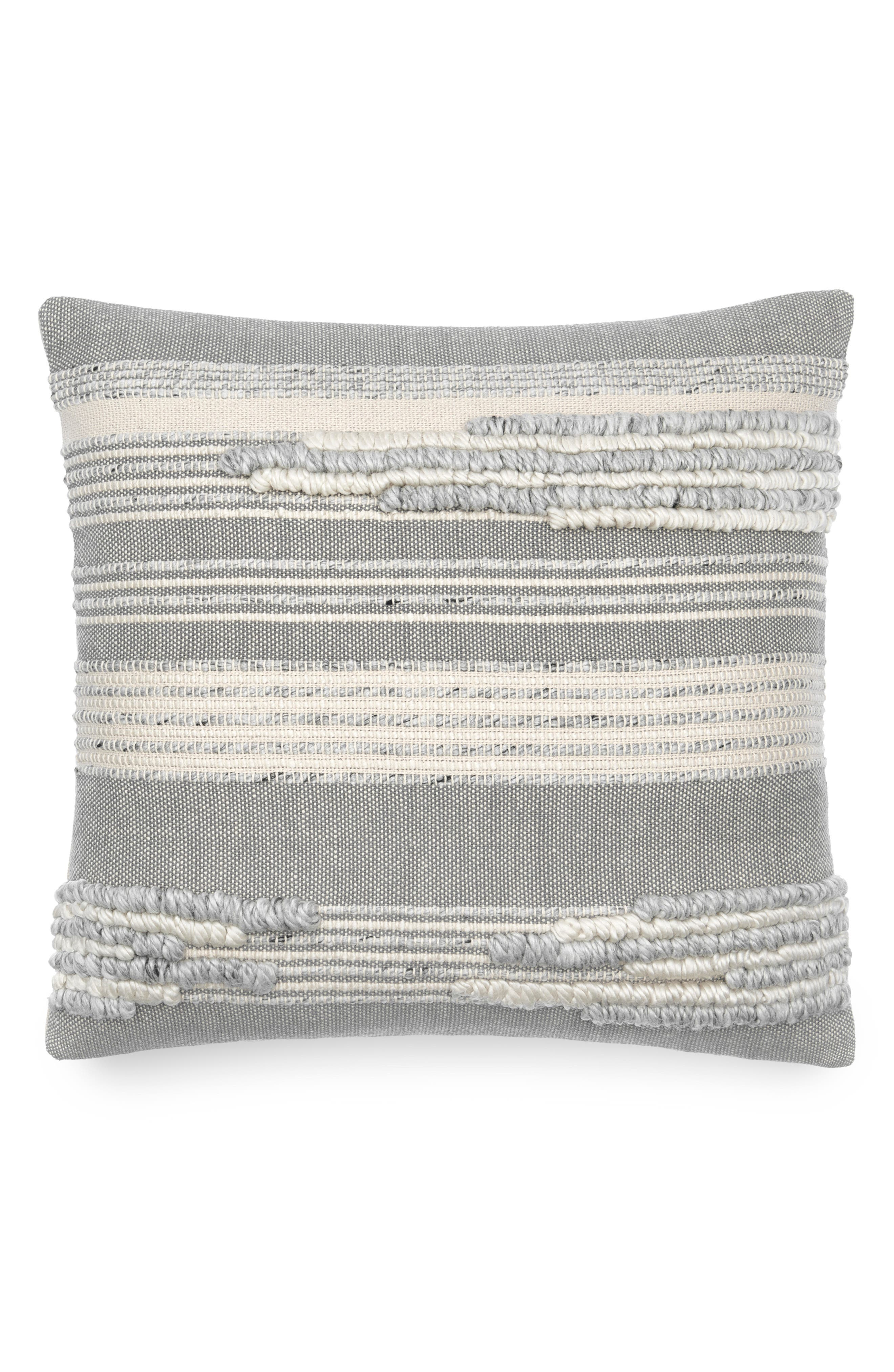 This cotton accent pillow features tactile stripes in muted tones, enriching the casual charm of your decor. Style Name: UGG Linda Accent Pillow. Style Number: 6070486. Available in stores.
