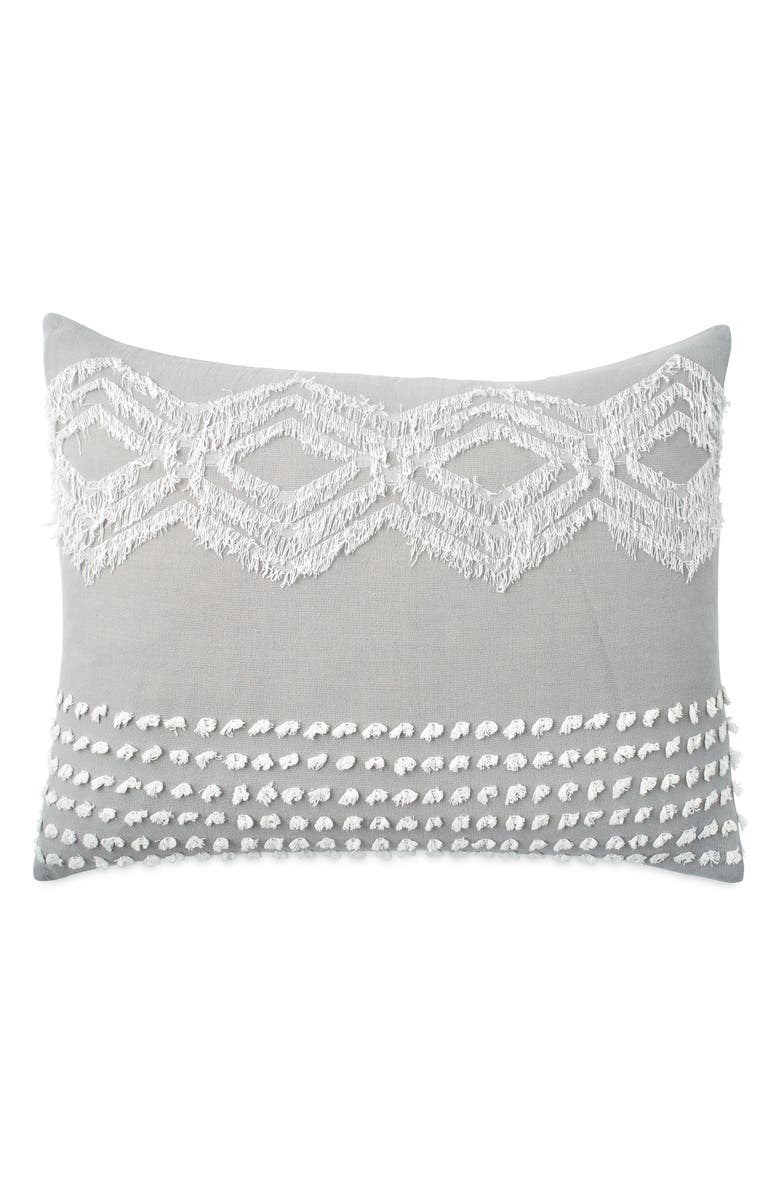 PERI HOME Cut Geo Sham, Main, color, GREY