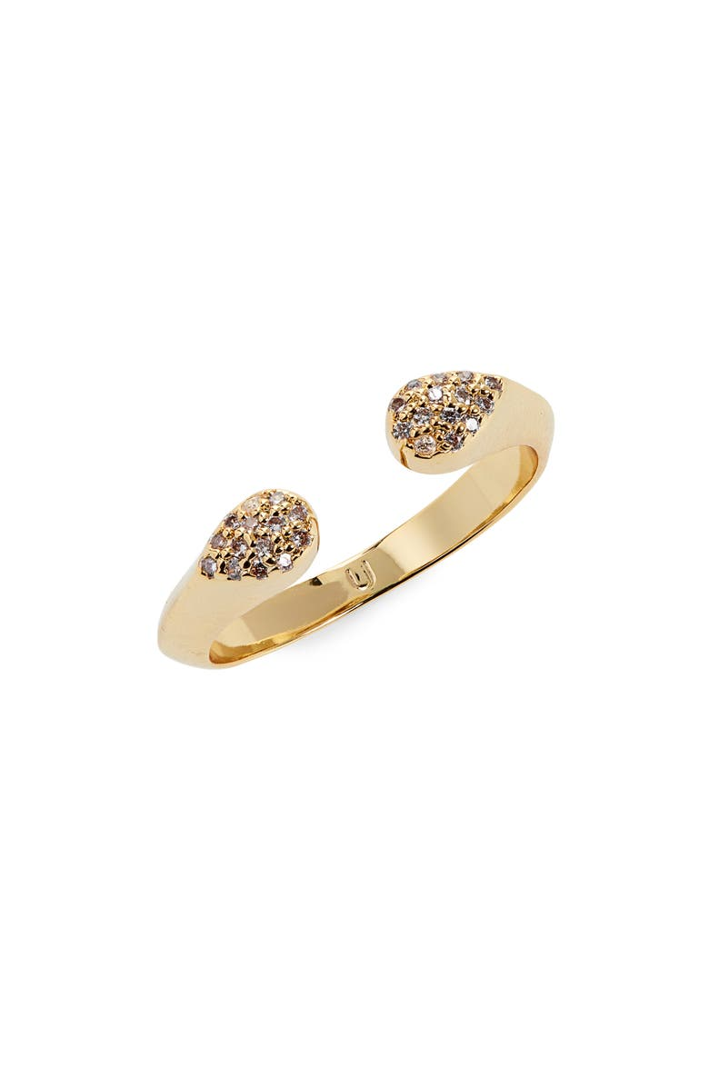 UNCOMMON JAMES BY KRISTIN CAVALLARI Tribeca Open Ring, Main, color, GOLD