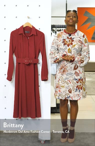 Long Sleeve Belted Shirtdress, sales video thumbnail
