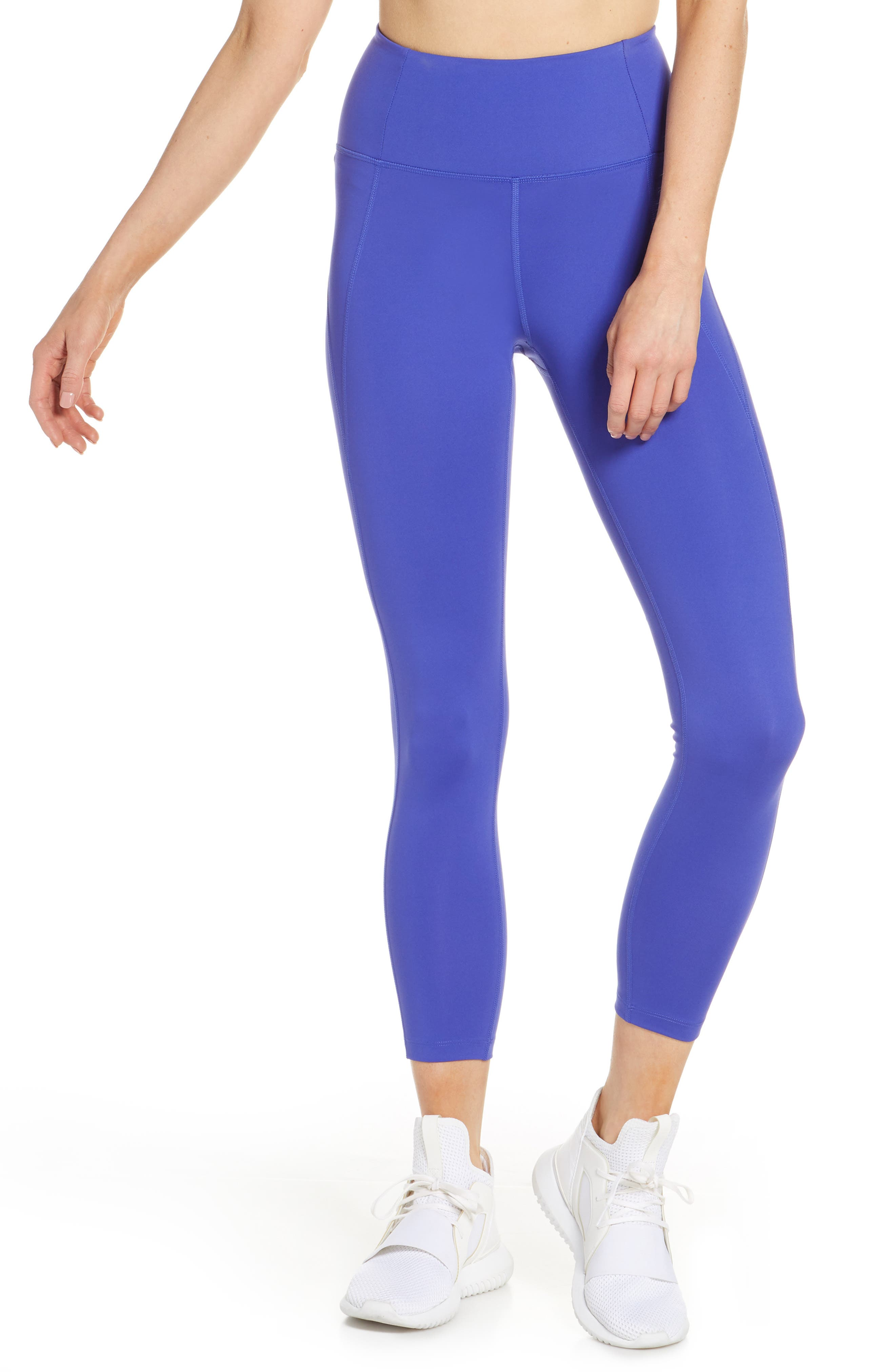 Girlfriend Collective High Waist 7/8 Leggings, Blue