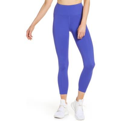 Girlfriend Collective High Waist 7/8 Leggings, Blue