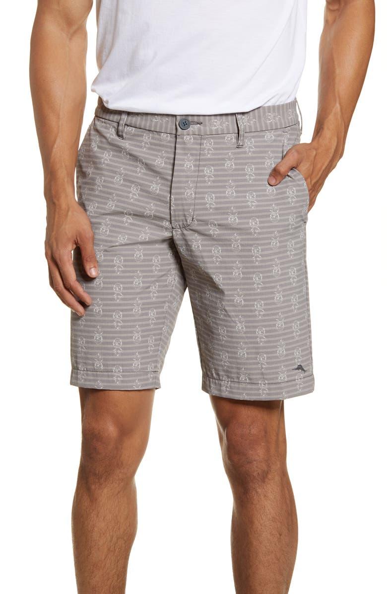 TOMMY BAHAMA Piña Party Shorts, Main, color, ARGENT