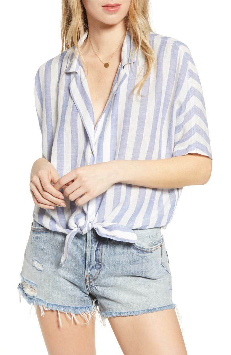 Marley Stripe Tie Front Top by Rails