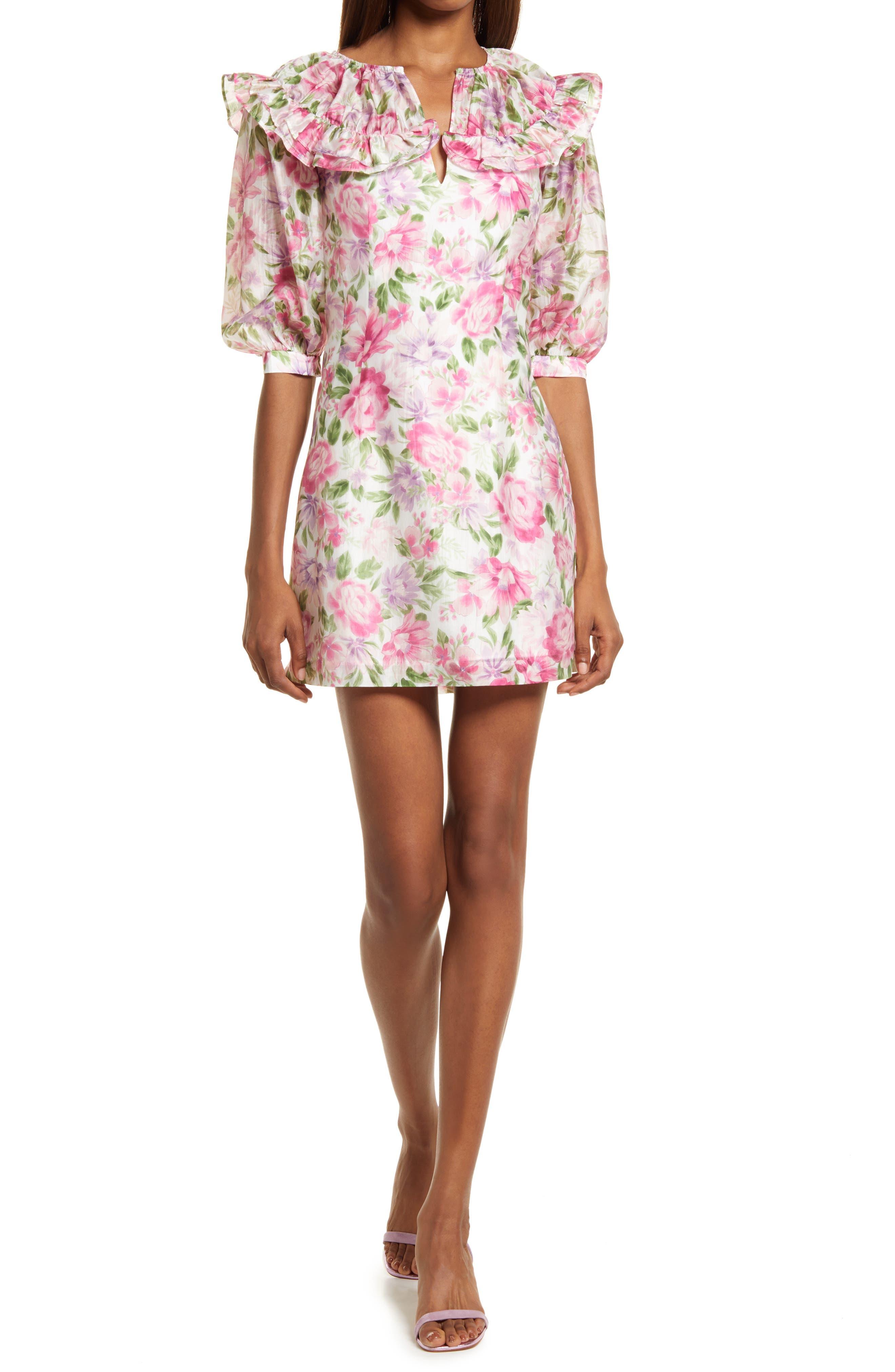 Denise Floral Ruffle Minidress