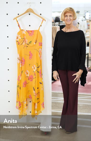 Floral Chiffon Midi Sundress, sales video thumbnail