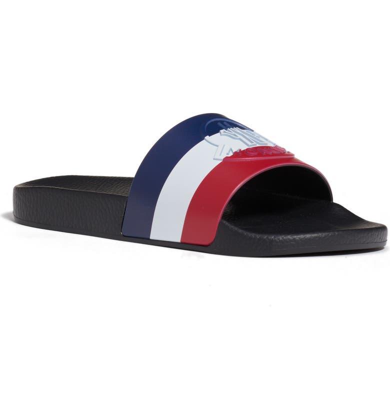 MONCLER Basile Slide Sandal, Main, color, BLACK/ BLACK/ BLACK