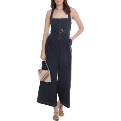Astr The Label Warwick Belted Wide Leg Jumpsuit