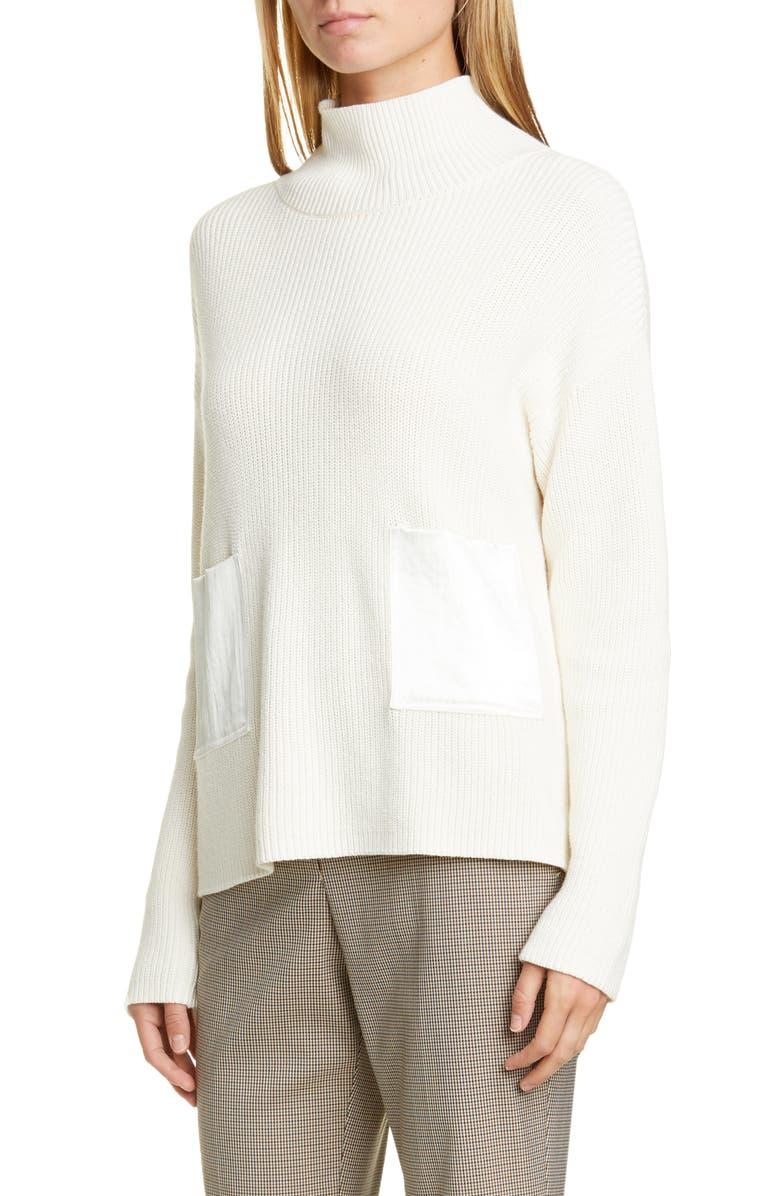 BOSS Faonia Cotton & Cashmere Sweater, Main, color, SOFT CREAM