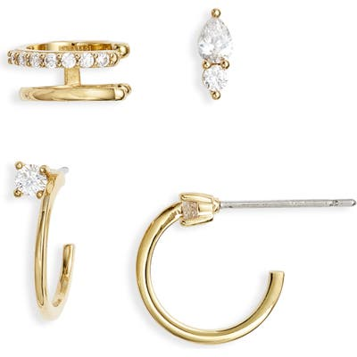 Nordstrom Ear Cuff, Stud & Hoops Earrings Set
