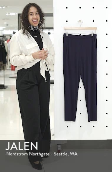 Crop Stretch Knit Pants, sales video thumbnail
