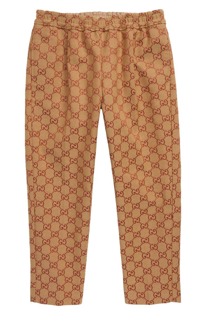 GUCCI Logo Jacquard Pants, Main, color, 255