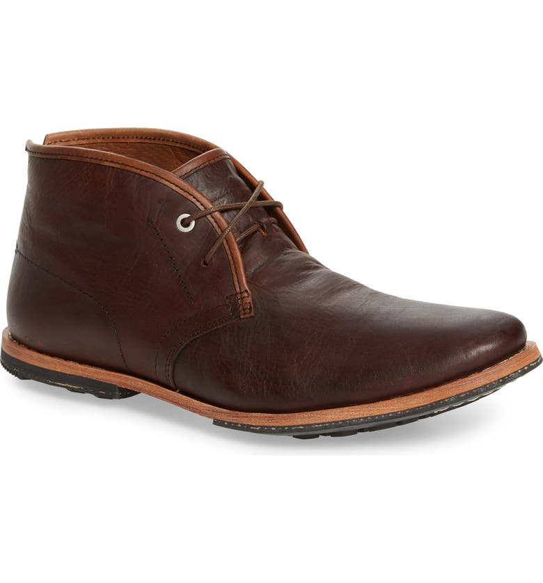 TIMBERLAND Wodehouse Chukka Boot, Main, color, BURNISHED DARK BROWN LEATHER