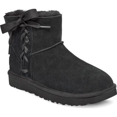 UGG Classic Lace-Up Mini Boot, Black