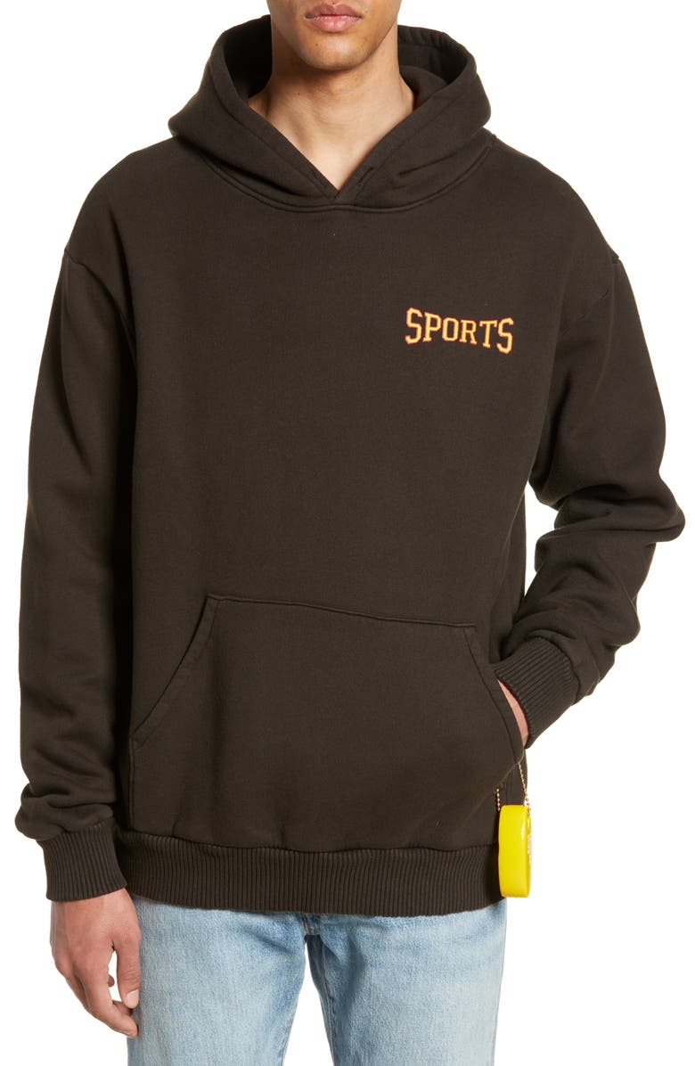 PASADENA LEISURE CLUB Sports Hoodie, Main, color, FADED BLACK