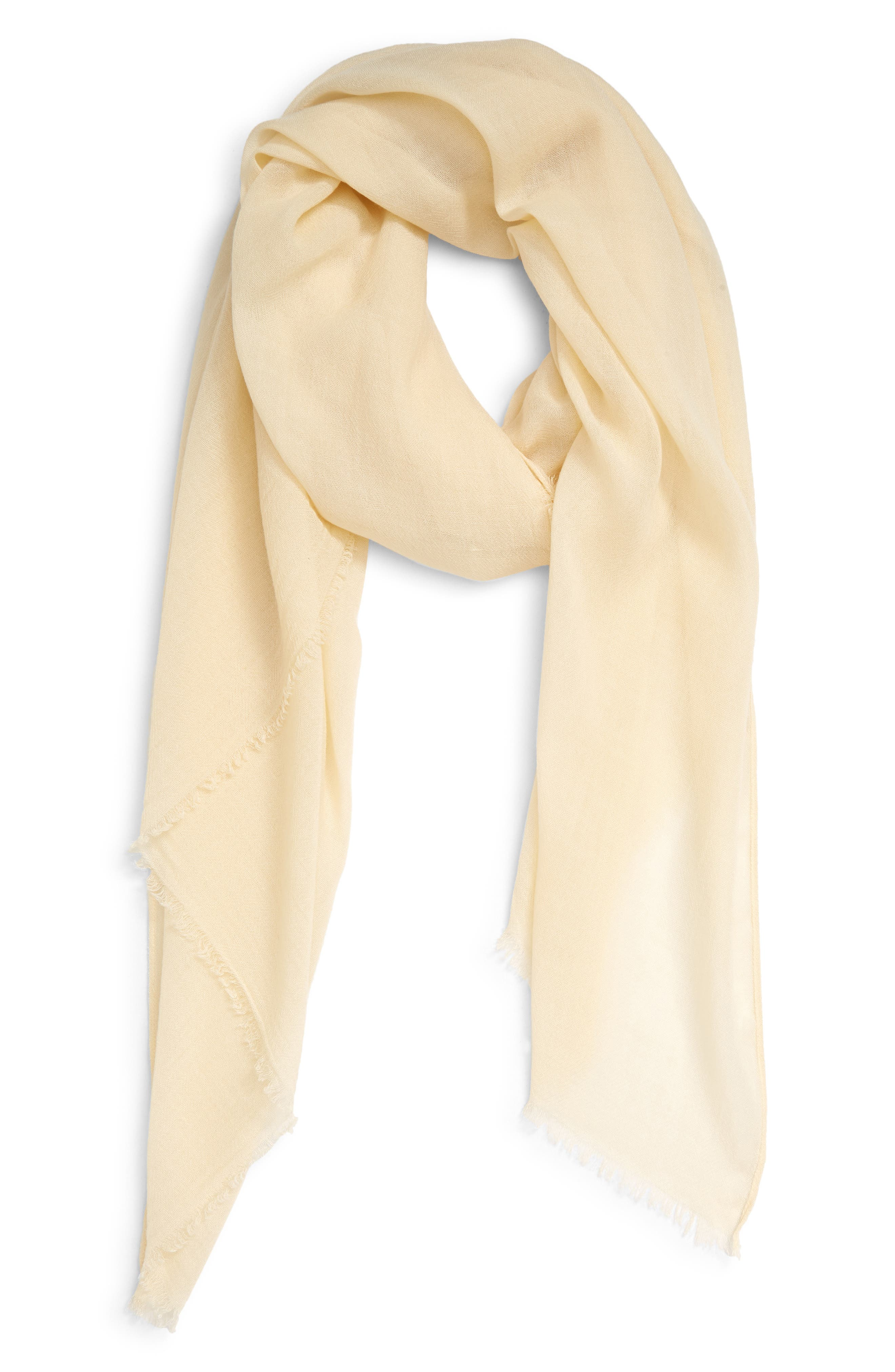 This essential feather-light scarf features a pair-with-everything hue and fine fringed trim. When you buy Treasure & Bond, Nordstrom will donate 2.5% of net sales to organizations that work to empower youth. Style Name: Treasure & Bond Scarf. Style Number: 6017717. Available in stores.