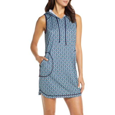 Tommy Bahama Island Active Hooded Cover-Up Minidress, Blue