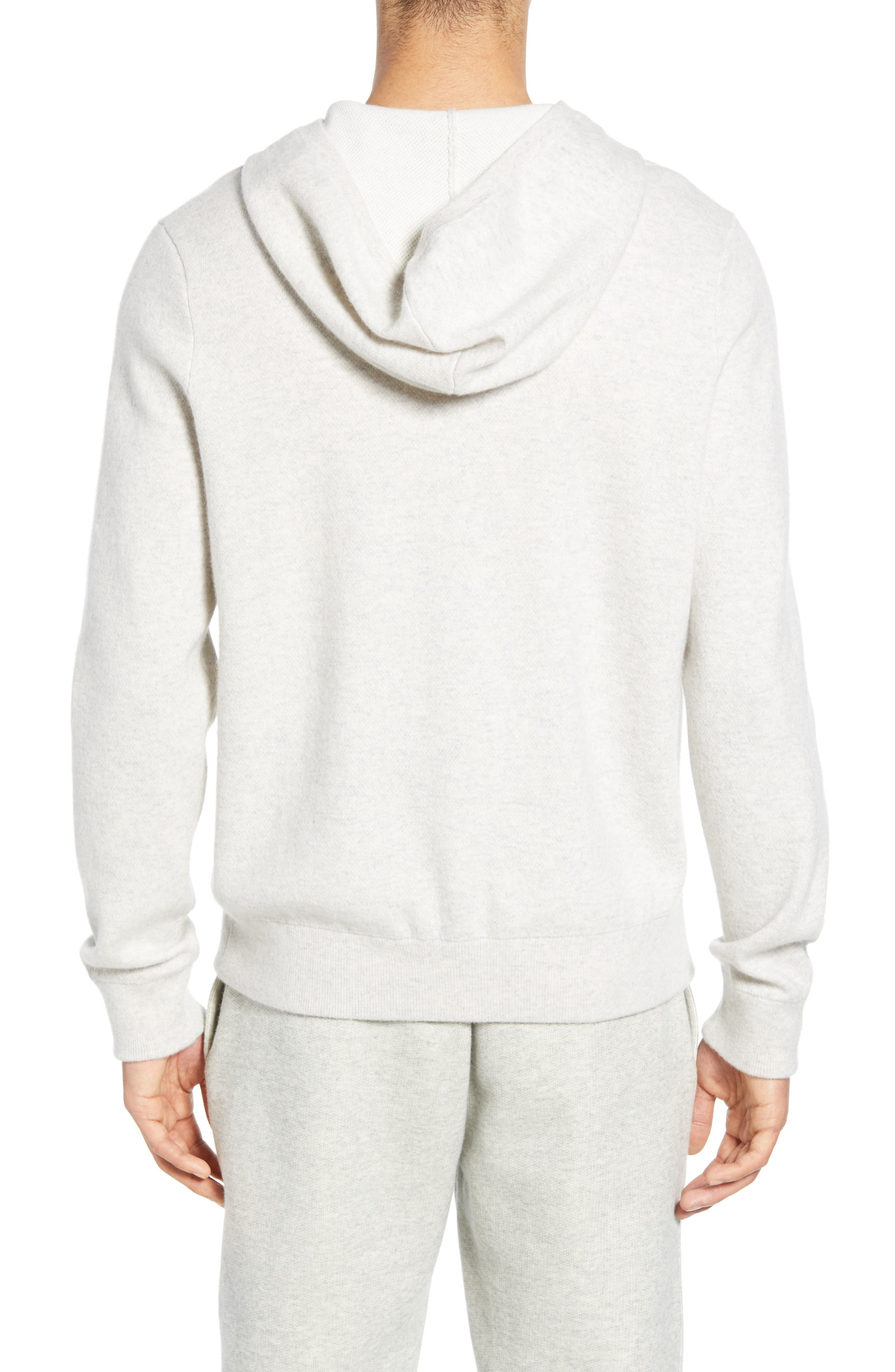 ,                             Wool & Cashmere Pullover Hoodie,                             Alternate thumbnail 2, color,                             H CLOUD/ OPTIC WHITE