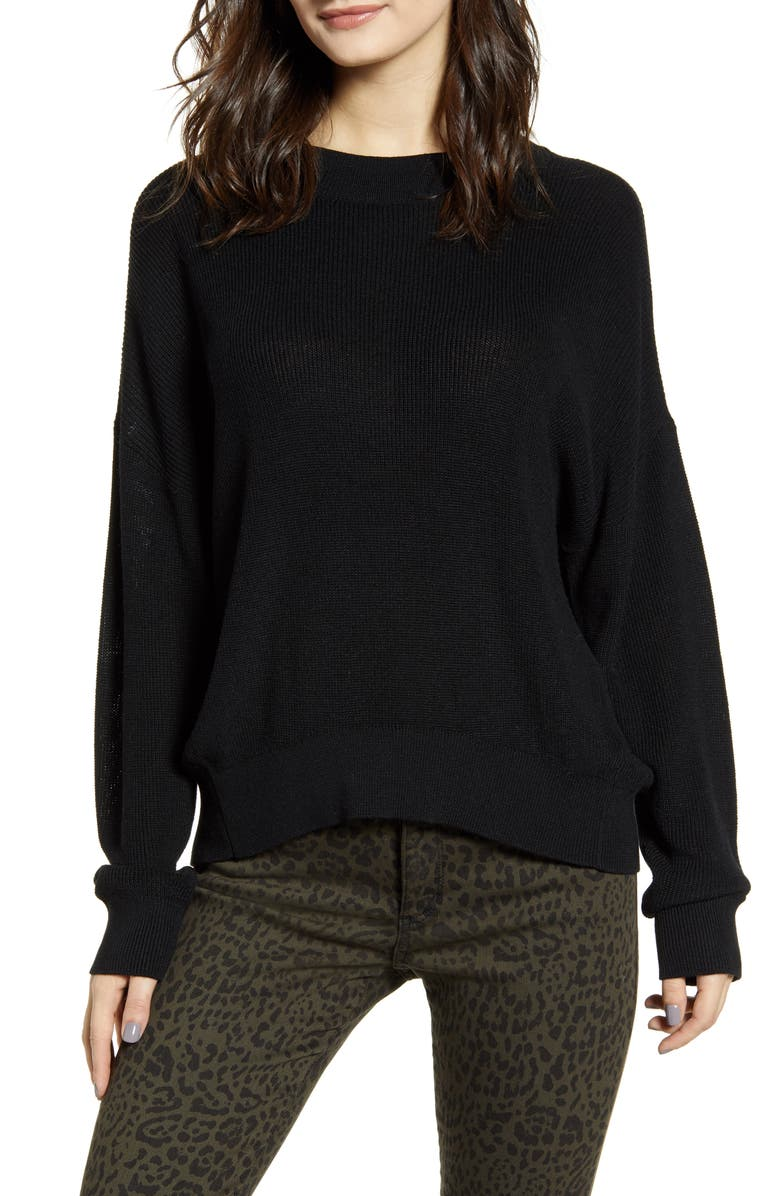 Lightweight Sweater, Main, color, BLACK