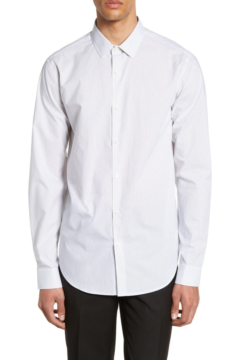 THEORY Murrary Charlton Slim Fit Shirt, Main, color, WHITE MULTI